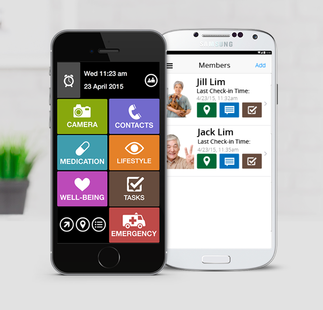 Silverline App and Companion App are free smartphone mobile apps for elderly and caregivers